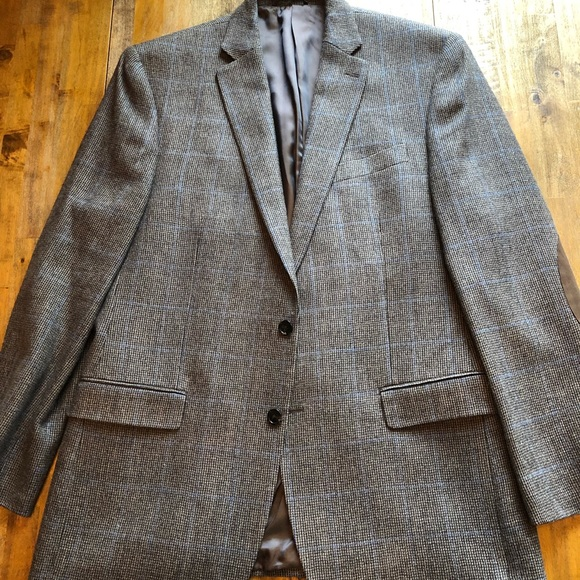 Ralph Lauren 42L Brown & Blue Sport Coat